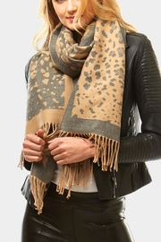 Embellish Animal Print Scarf - Front cropped