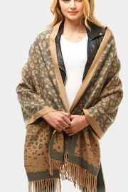 Embellish Animal Print Scarf - Front full body
