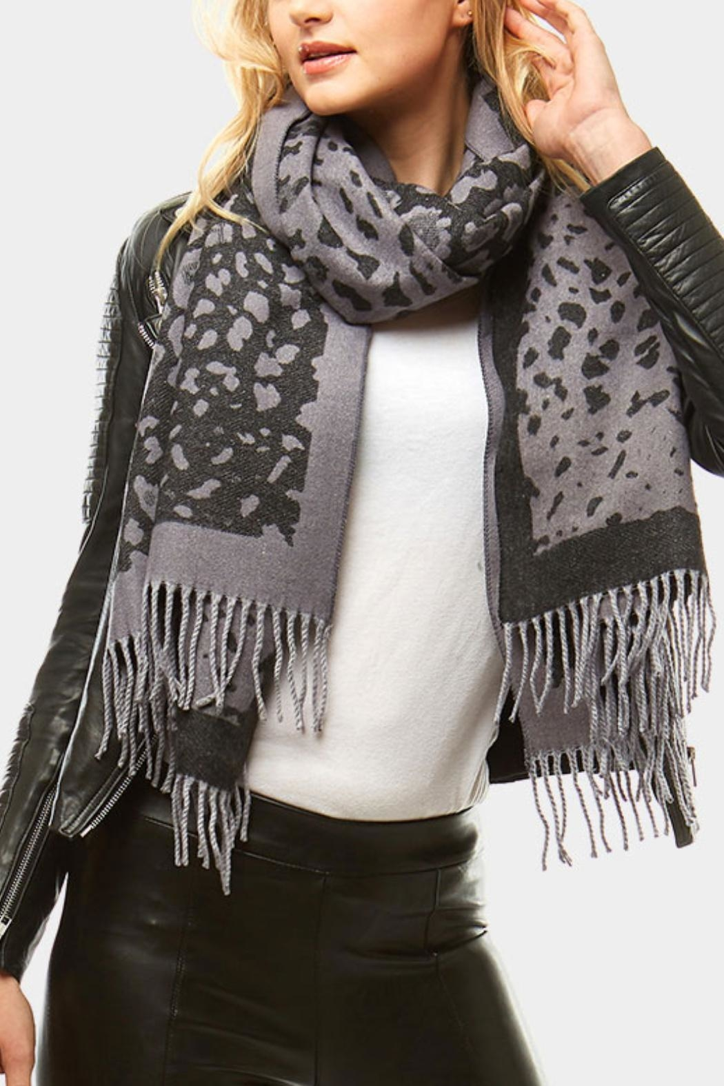Embellish Animal Print Scarf - Main Image