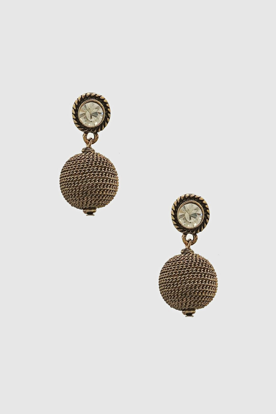 Embellish Antique Drop Earrings - Front Cropped Image