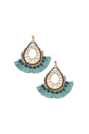 Embellish Aqua Boho Earrings - Product Mini Image