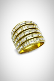 Embellish Baguette Crystal Ring - Product Mini Image