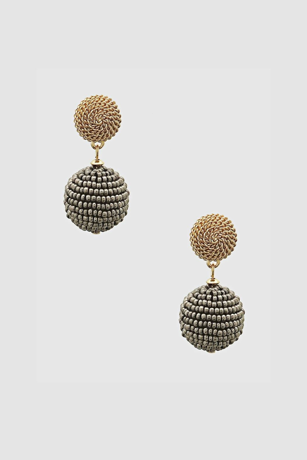 Embellish Bead Drop Earrings - Front Cropped Image