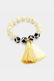 Embellish Bead Tassel Bracelet - Product Mini Image