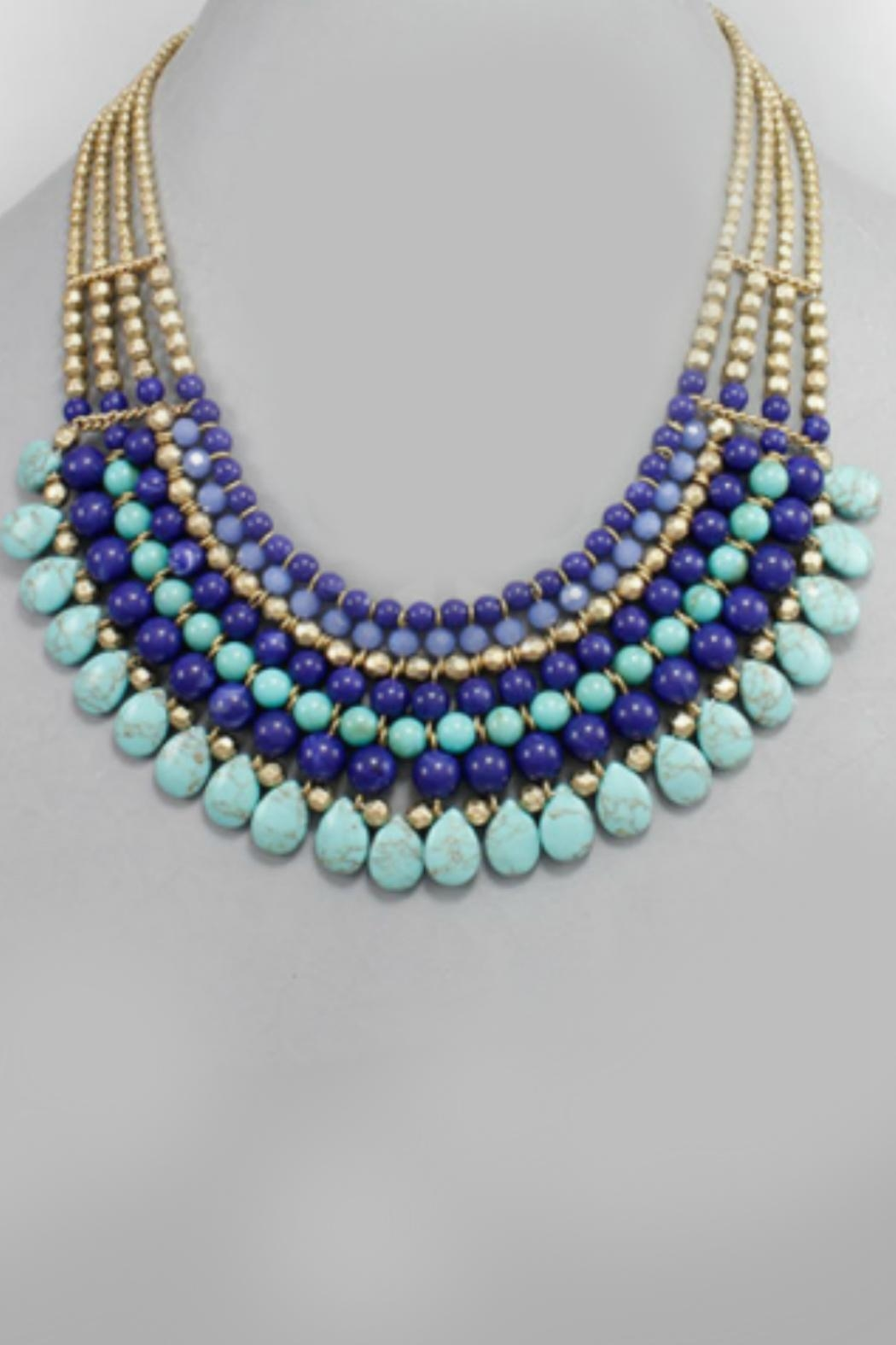 Embellish Beaded Bib Necklace - Main Image