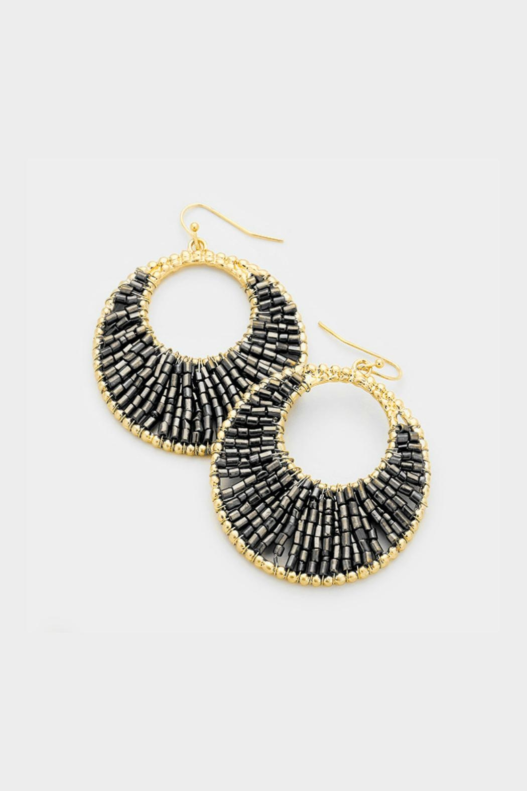 Embellish Beaded Crescent Earrings - Main Image