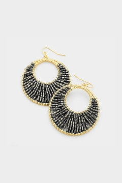 Shoptiques Product: Beaded Crescent Earrings