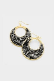 Embellish Beaded Crescent Earrings - Front cropped