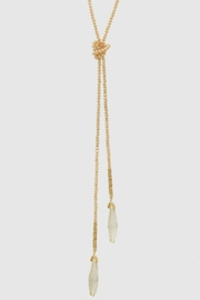Embellish Beaded Lariat Necklace - Front full body