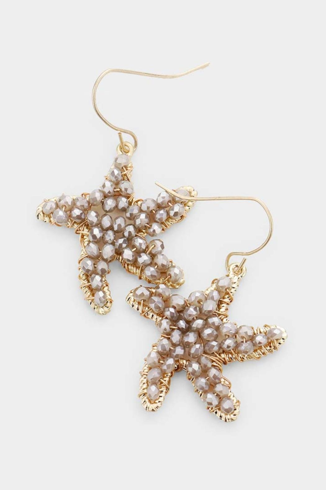 Embellish Beaded Starfish Earrings - Front Cropped Image