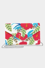 Embellish Beaded Tropical Bag - Front cropped