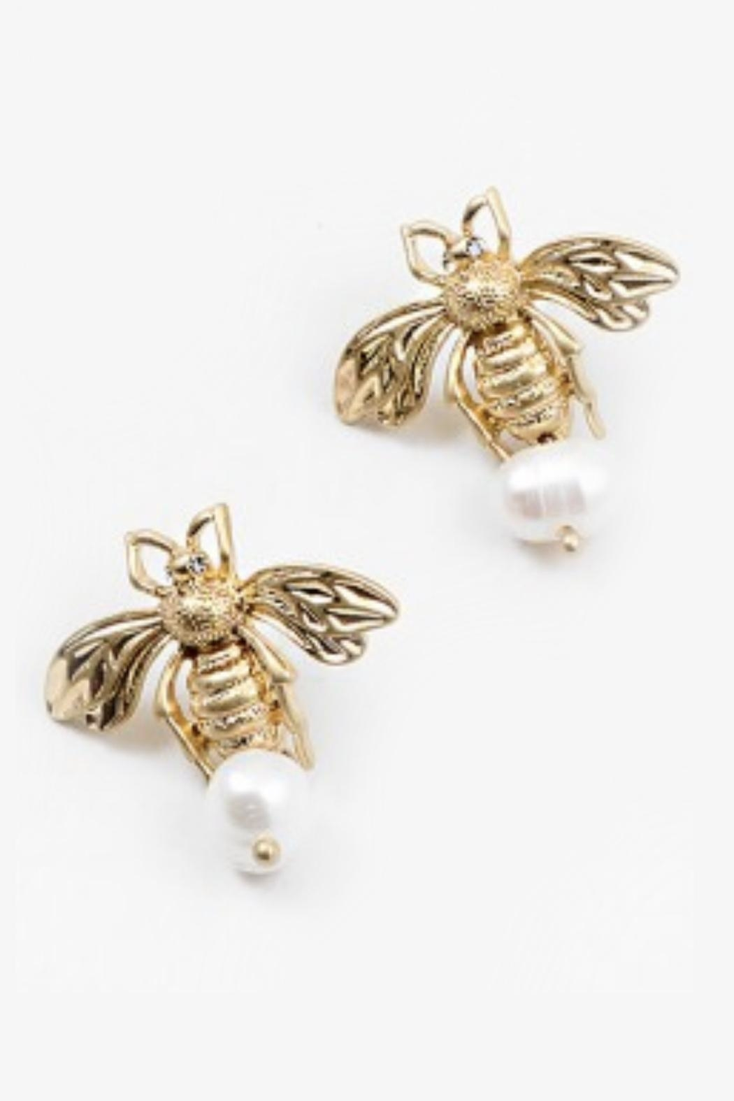 Embellish Bee Mine Earrings - Front Cropped Image