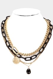 Embellish Black Chain Necklace - Front cropped