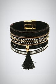 Embellish Black Leather Bracelet - Product Mini Image