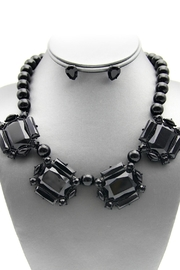 Embellish Black Out Necklace - Front cropped