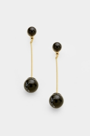 Embellish Stone Ball Earrings - Product Mini Image