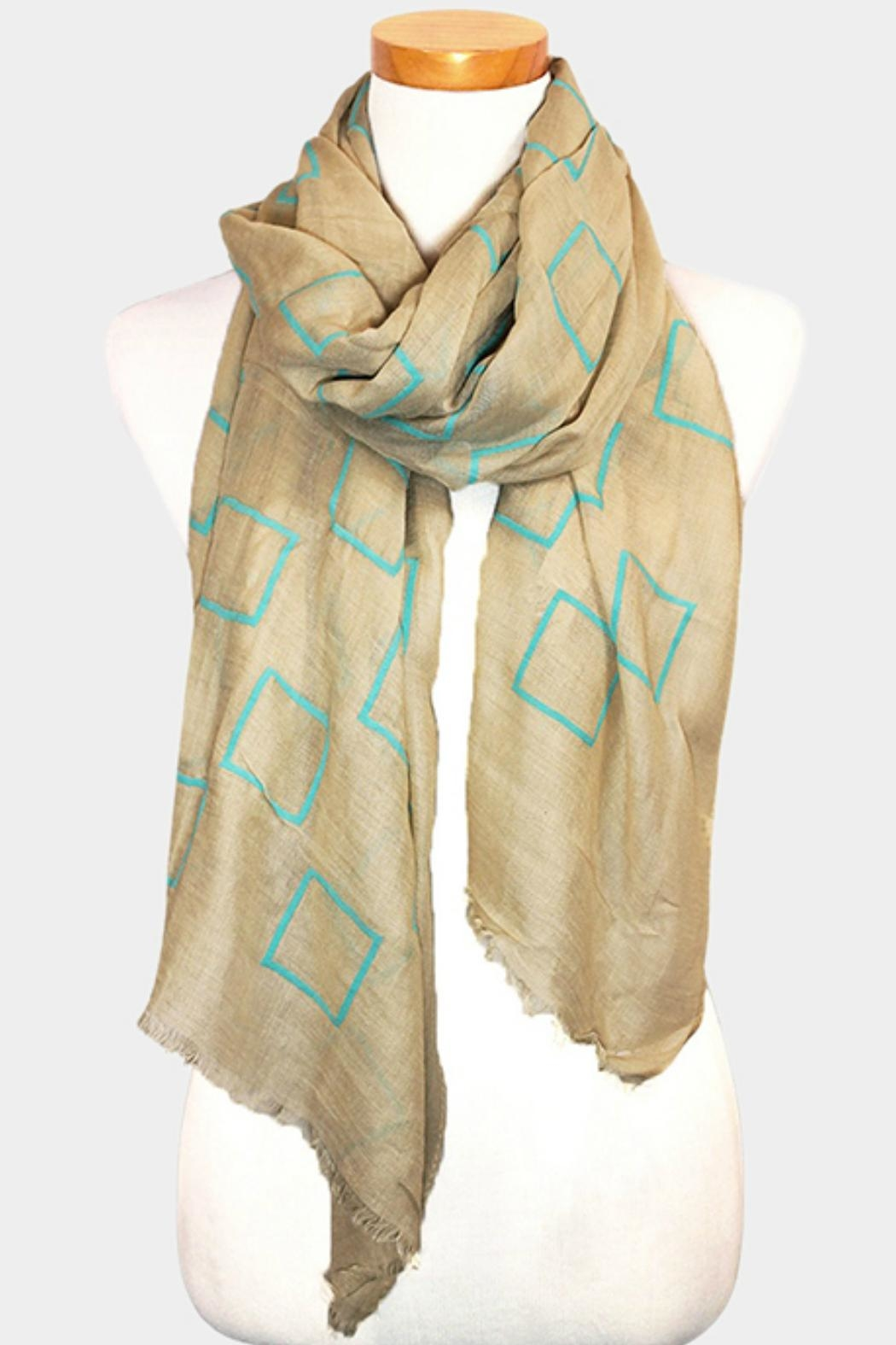 Embellish Block Oblong Scarf - Front Cropped Image