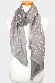 Embellish Block Oblong Scarf - Front cropped