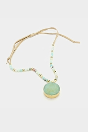 Embellish Blue Druzy Necklace - Product Mini Image