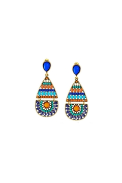 Embellish Blue Orange Earrings - Alternate List Image