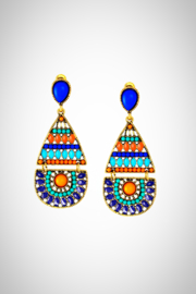 Embellish Blue Orange Earrings - Product Mini Image