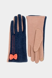 Embellish Bow Texting Gloves - Front cropped