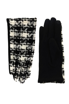 Embellish Buffalo Check Gloves W/ Chanel Inspired Detail - Alternate List Image