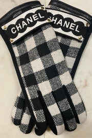 Embellish Buffalo Check Gloves W/ Chanel Inspired Detail - Product Mini Image