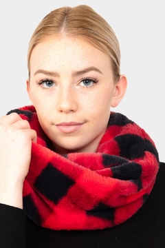 Embellish Buffalo Check Infinity Scarf - Alternate List Image