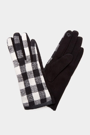 Embellish Buffalo Check Texting Gloves - Front cropped