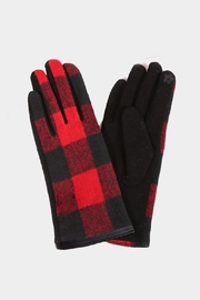 Embellish Buffalo Check Texting Gloves - Product Mini Image