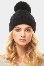 Embellish Cable Pom Hat - Front cropped