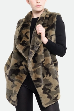 Embellish Camo Faux Fur Vest - Product List Image