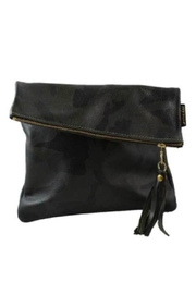 Embellish Camo Leather Fold-Over Clutch - Front cropped