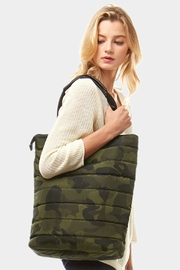 Embellish Camo Puffer Bag - Front cropped