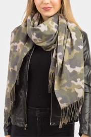 Embellish Camo Soft Scarf - Front cropped