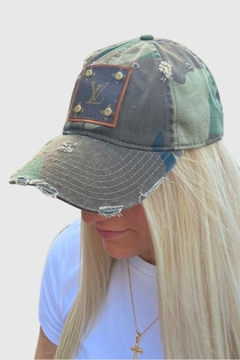 Embellish Camouflage Louis Vuitton Upcycled Cap - Alternate List Image