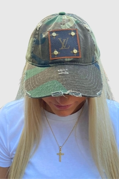 Embellish Camouflage Louis Vuitton Upcycled Cap - Product List Image