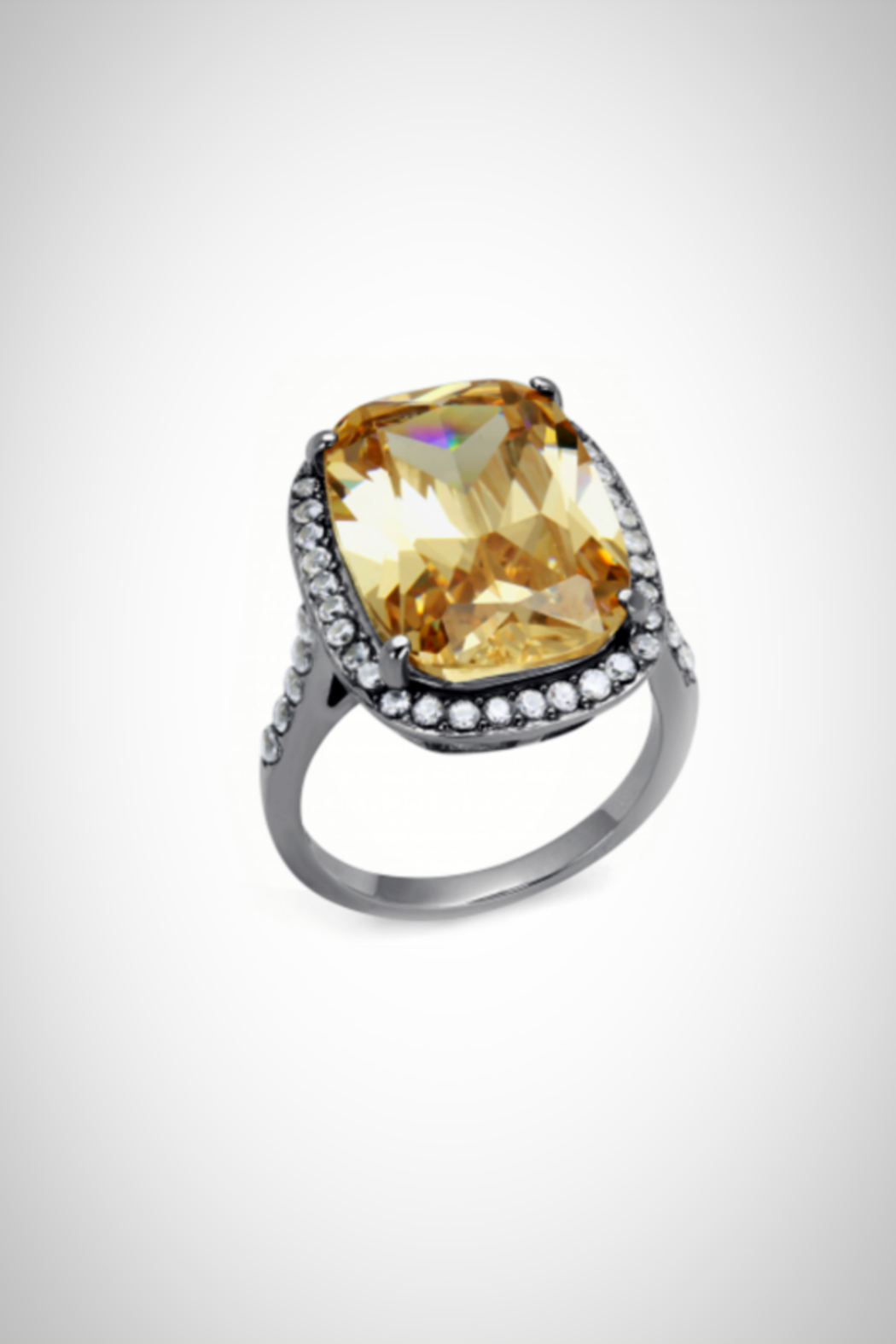 Embellish Champagne Emerald-Cut Ring - Main Image