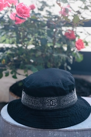 Embellish Chanel Inspired Black On Black Bucket Hat - Product Mini Image