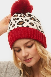 Embellish Chenille Leopard Hat - Front cropped