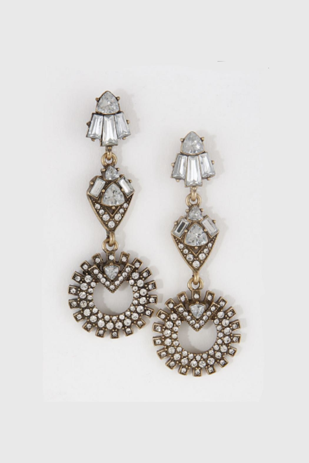 Embellish Clear Chandelier Earrings - Front Cropped Image