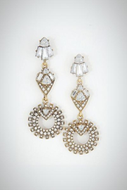 Embellish Clear Chandelier Earrings - Product Mini Image
