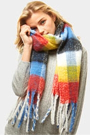 Embellish Colorful Plaid Scarf - Front cropped