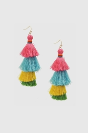 Embellish Thread Tassel Earrings - Product Mini Image
