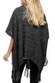 Embellish Cowl Neck Poncho - Front cropped