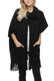 Embellish Cowl Neck Poncho - Product Mini Image