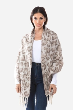 Embellish Cozy Animal Print Scarf - Alternate List Image