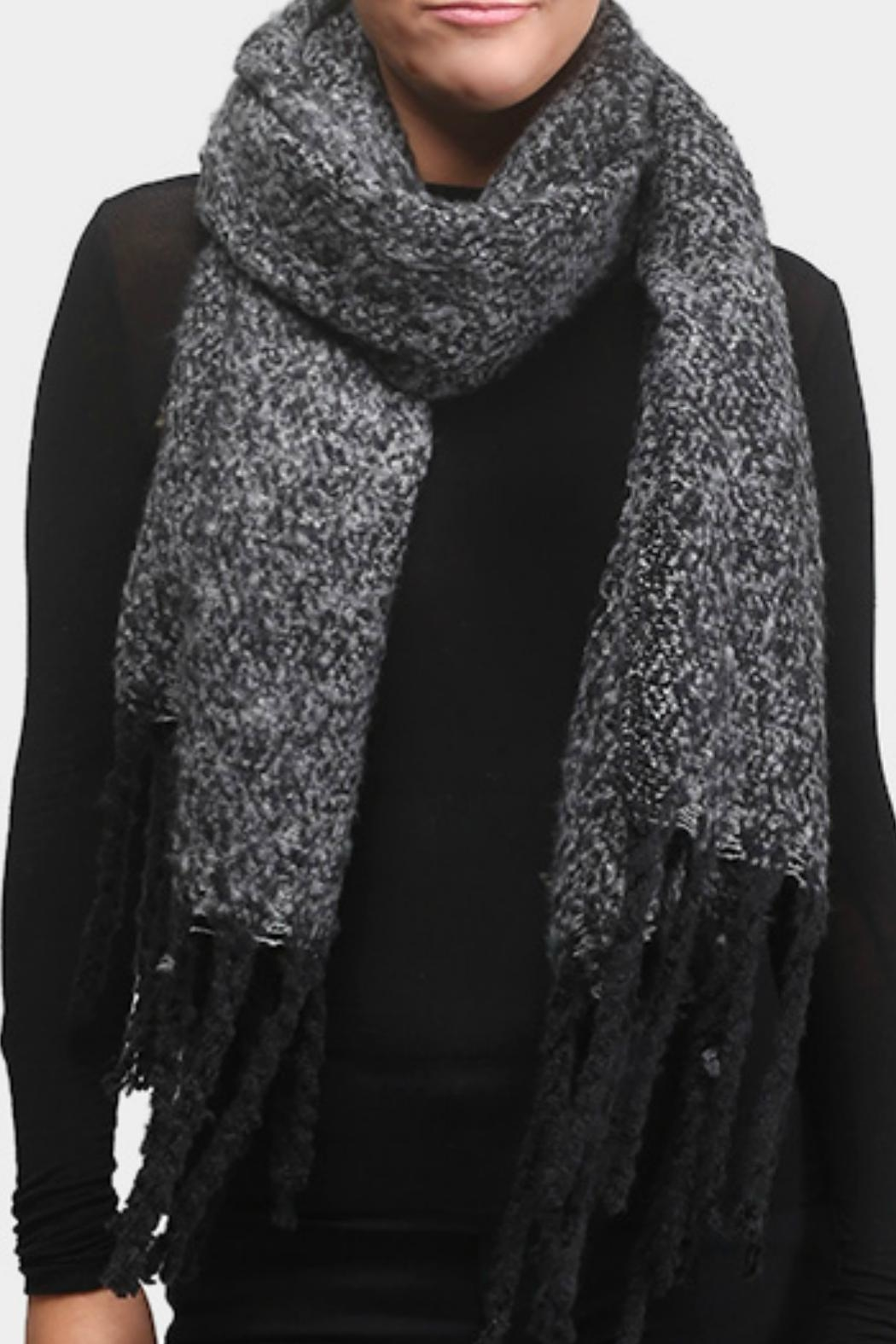 Embellish Cozy Knit Scarf - Front Cropped Image