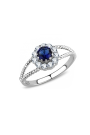 Embellish Solitaire Cz Ring - Front cropped